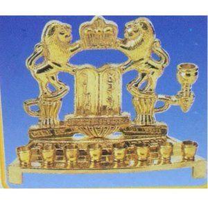 Vintage Brass Menorah New in box